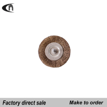 Carbon steel brass crimped wire wheel brush