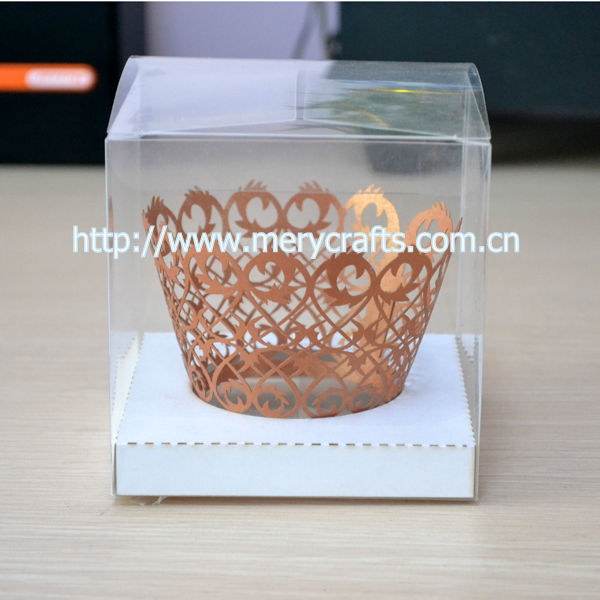 clear pvc sweet box for baby,plastic sweet box with insert gold