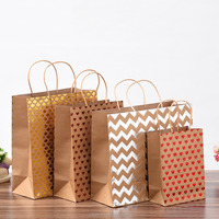Wholesale Custom Logo Printed kraft paper bags with handles