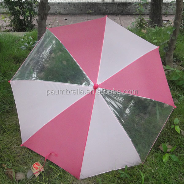 Kids transparent umbrella PVC umbrella for kids umbrella for children with logo