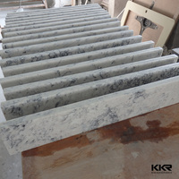 white marble solid surface bullnose window sills