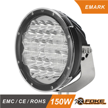 E-Mark Approved IP68 led spot light 9inch 150w 185w 225w led driving lamp auxiliary light for truck offroad