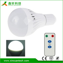 7W E27 E26 B22 85-265V Led Emergency Light With Remote Controller