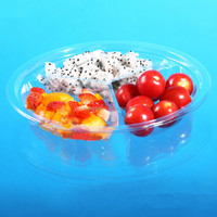 disposable 3 compartment food tray