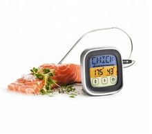 Fashion Popular Mini LCD Touch Screen Digital Timer BBQ Thermometer Kitchen Cooking Food Meat Thermometer