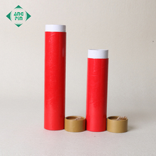 Cute round shape tube packaging printed paper cylinder candle box with string
