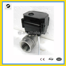 CWX-15N 1'' 12v 24v stainless steel food grade NPT Both female thread electric solenoid ball valve for water treatment