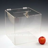 clear acrylic coin /donation/ ballot/charity box