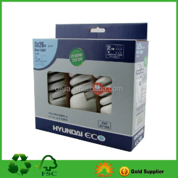 Paper Box for Fluorescent Lamps