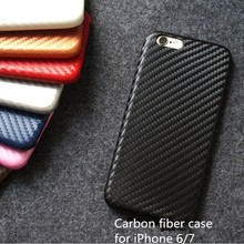Ultra slim carbon fiber leather case for iphone 7 & 7 plus, for iphone carbon fiber cases