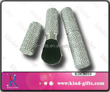 Rhinestone Portable Makeup Brushes for Beginners