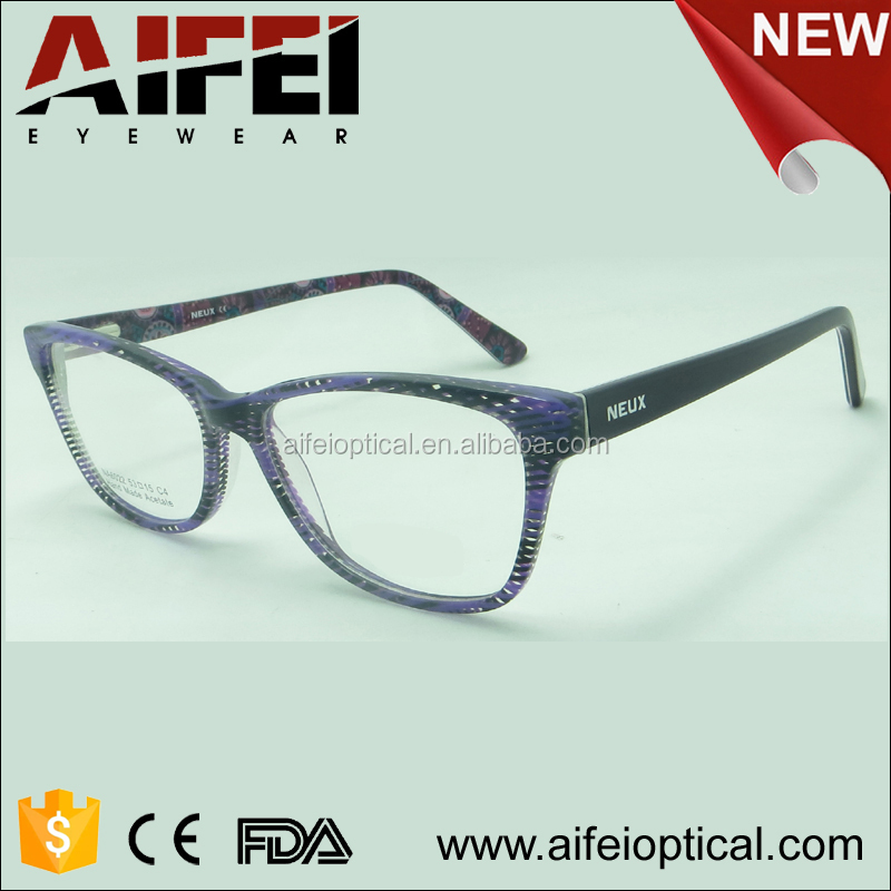New model eyewear acetate optical frame glasses fashion trendy optical glasses