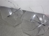Transparent Poe material straight Umbrella manufacture