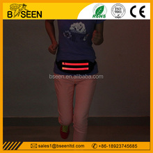 Outdoor sport safety Light up running belt waist pack