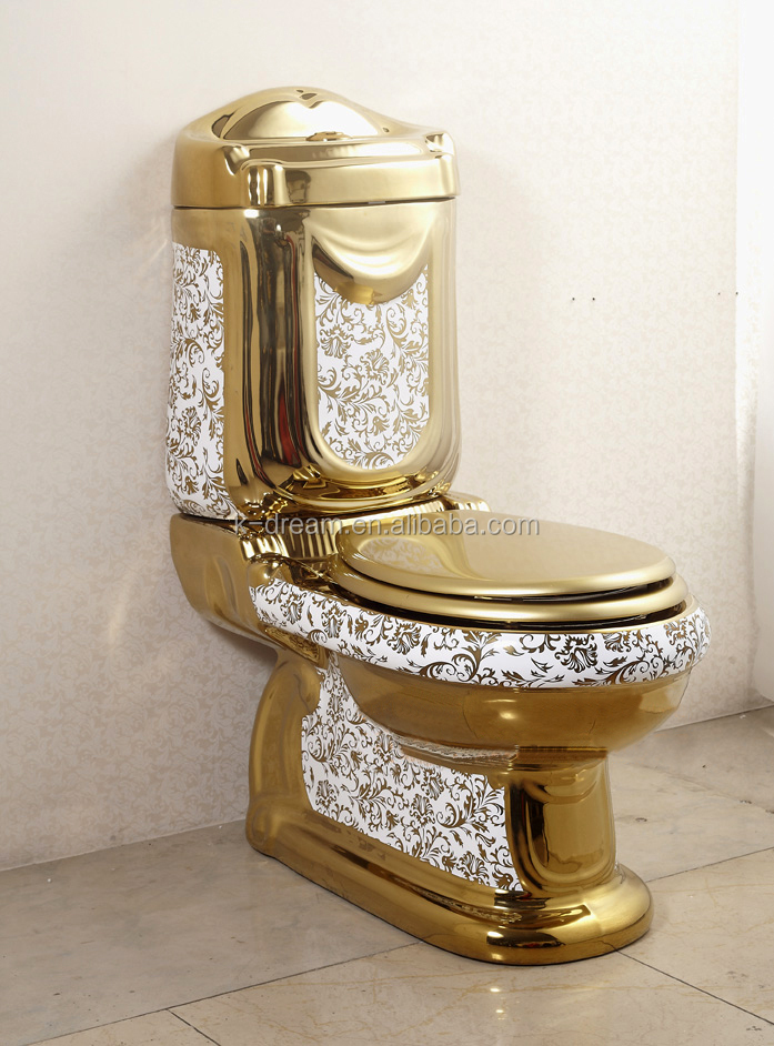 New style WC ceramic washdown two pieces Golden sanitary ware toilet