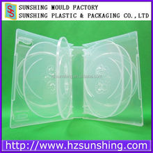 35mm gloosy surface plastic pp multi 10 discs dvd case with outer clear plastic sleeve
