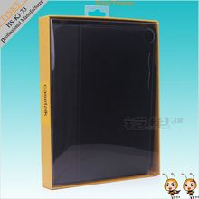 hanging packaging for display,kraft paper packaging bag for ipad case with pvc/clear lid