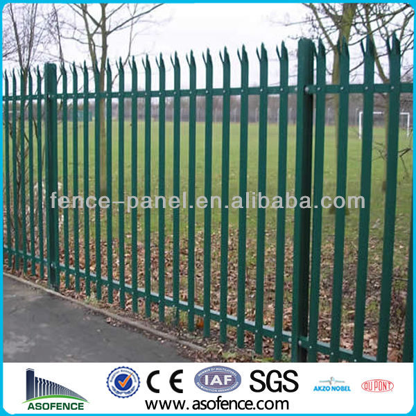 D and W type galvanized Palisade fencing