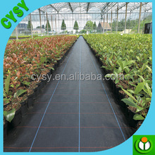 Garden weed control mat plastic woven fabric mulch