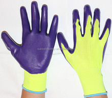 13G nitrile coated gloves,latex coated work gloves,working gloves guantes de trabajo recubiertos de
