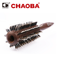 CB-6001 Chaoba Top Quality Hair Brush Salon Wooden Round Handle Hair Brush
