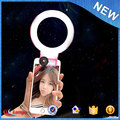 New Products Rechargeable Universal Adjustable Brightness 48 LEDs Selfie Ring Light flash with Wide Angle lens for phones Tablet
