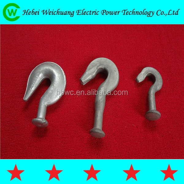 Link fitting electric galvanized forged ball hook