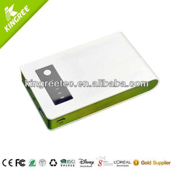 A Mini Solar external battery charger laptop/Universal Power Bank Charger
