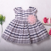 kids cotton frocks design pink flower girl dresses