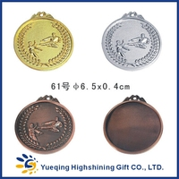 61# Good style gold silver bronze plated zinc alloy sports award souvenir factory price round metal taekwondo medal