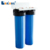 "10"" 20"" slim blue plastic cartridge filter housing"