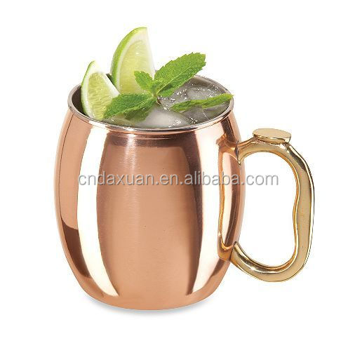 Stainless steel Metal Type and LFGB,FDA,CE / EU,SGS Certification manufacturer moscow mule copper mug