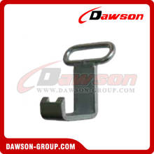Flat Container Hook with Weld-on Ring of 5000-9000kg for lashing