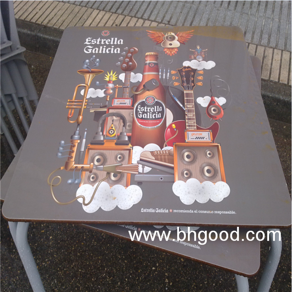 formica HPL laminate table top customized design for bar
