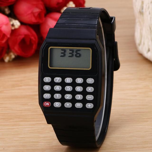 China cheap touch screen calculator watch for kids
