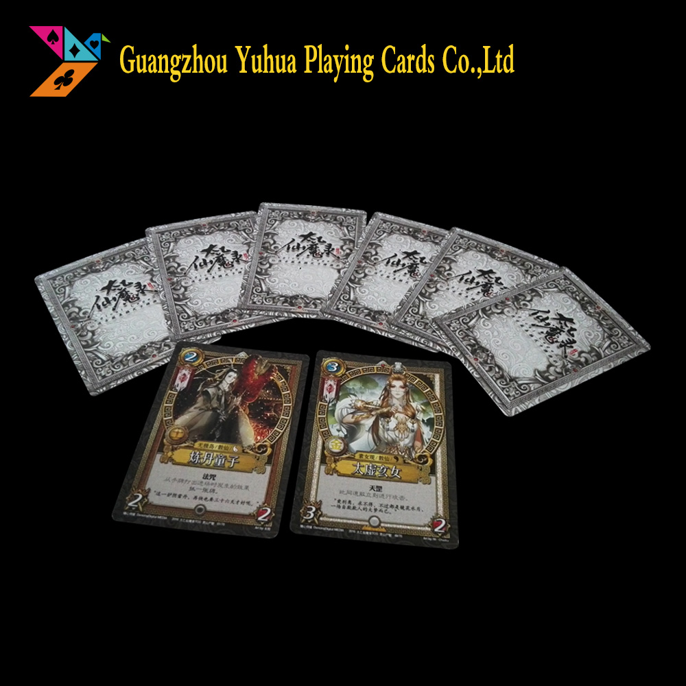 Full color printing service creative handmade game cards with hot foil YH52