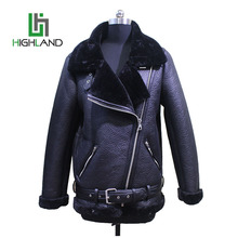 wholesale popular men leather jacket with fur collar mens faux leather jacket