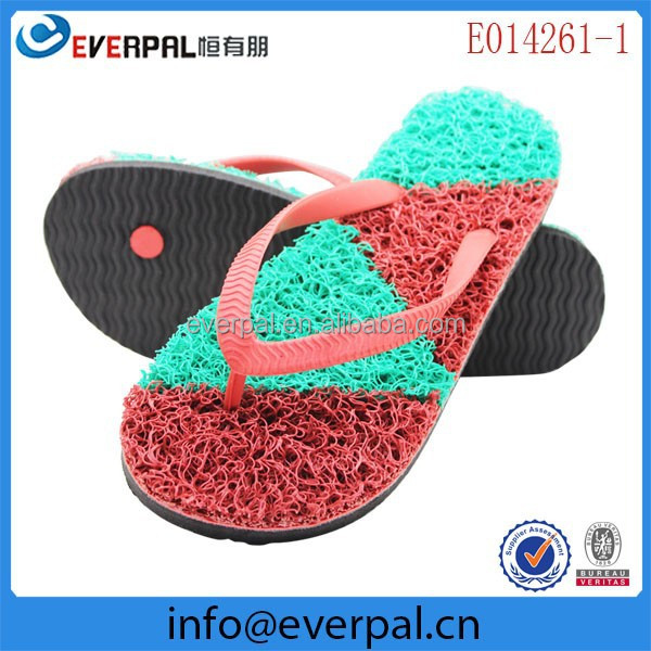 PVC Noodle Grass Flip Flops Seagrass Slippers
