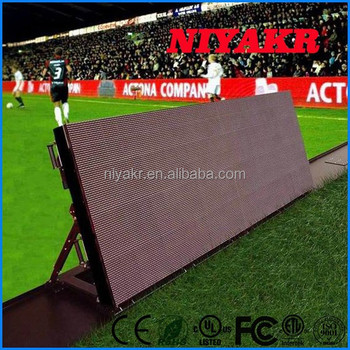 P16 Large Stadium LED Display Screen, Football Stadium Perimeter Led Screen Display, LED Advertising Board Stadium