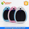 Waterproof Series Mini Round Waterproof 3000mAh solar charger controller with white Blue Pink colors