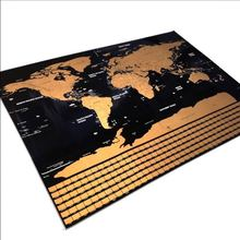 Wholesale custom print wallpaper world map scratch travel map scratch off paper world map