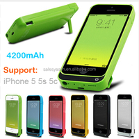 Full 4200mAh Battery Cases For iPhone 5 5S SE External Portable Emergency Bracket Charger Device Power Bank Cover