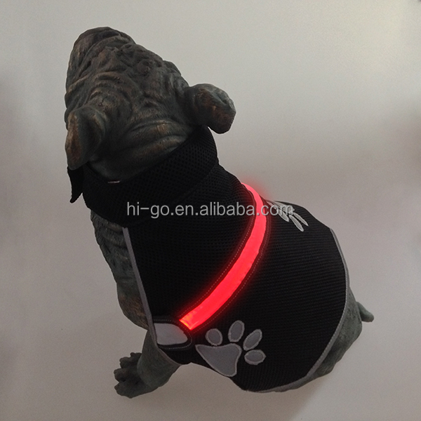Waterproof Clothes For Dogs Pet Dog Coat Puppy Vest Jacket With Led