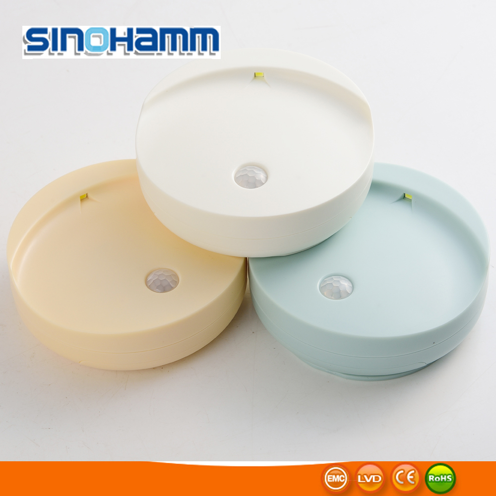 New motion-activated led sensor night light with screw, 3D tape for hallways, stairways, steps