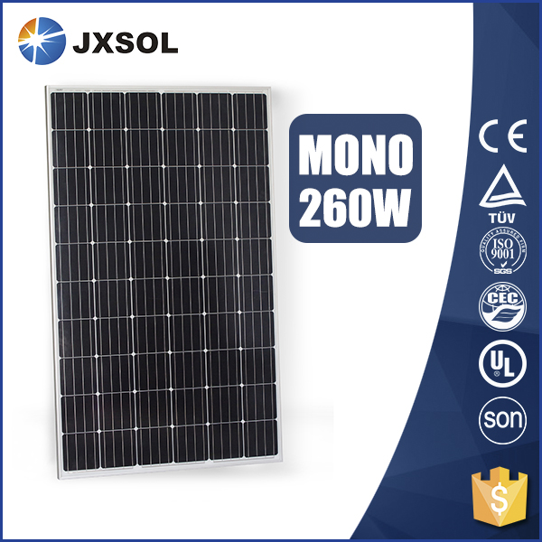 good quality hot sale grade B 260w mono the lowest price solar panel