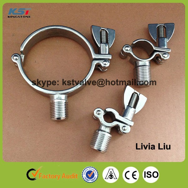 "Promotion China factory 3"" 304 stainless steel sanitary pipe hanger"