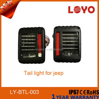 Newest style 2016 led tail lights 24v truck USA Black Euro version for Jeep wrangler