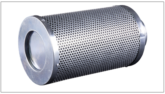 "4""  100*250mm Grow Tent Air Filter Air Carbon Filter Odor Control Activated Charcoal Filter Pre-filter Included Air Scrubber"
