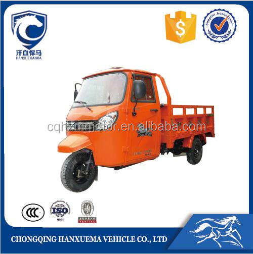 hot sale 3 wheeler tuk tuk for cargo delivery with closed cabin for adults