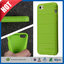C&T Sublimation back soft gel case fit tpu phone cover for iphone 5